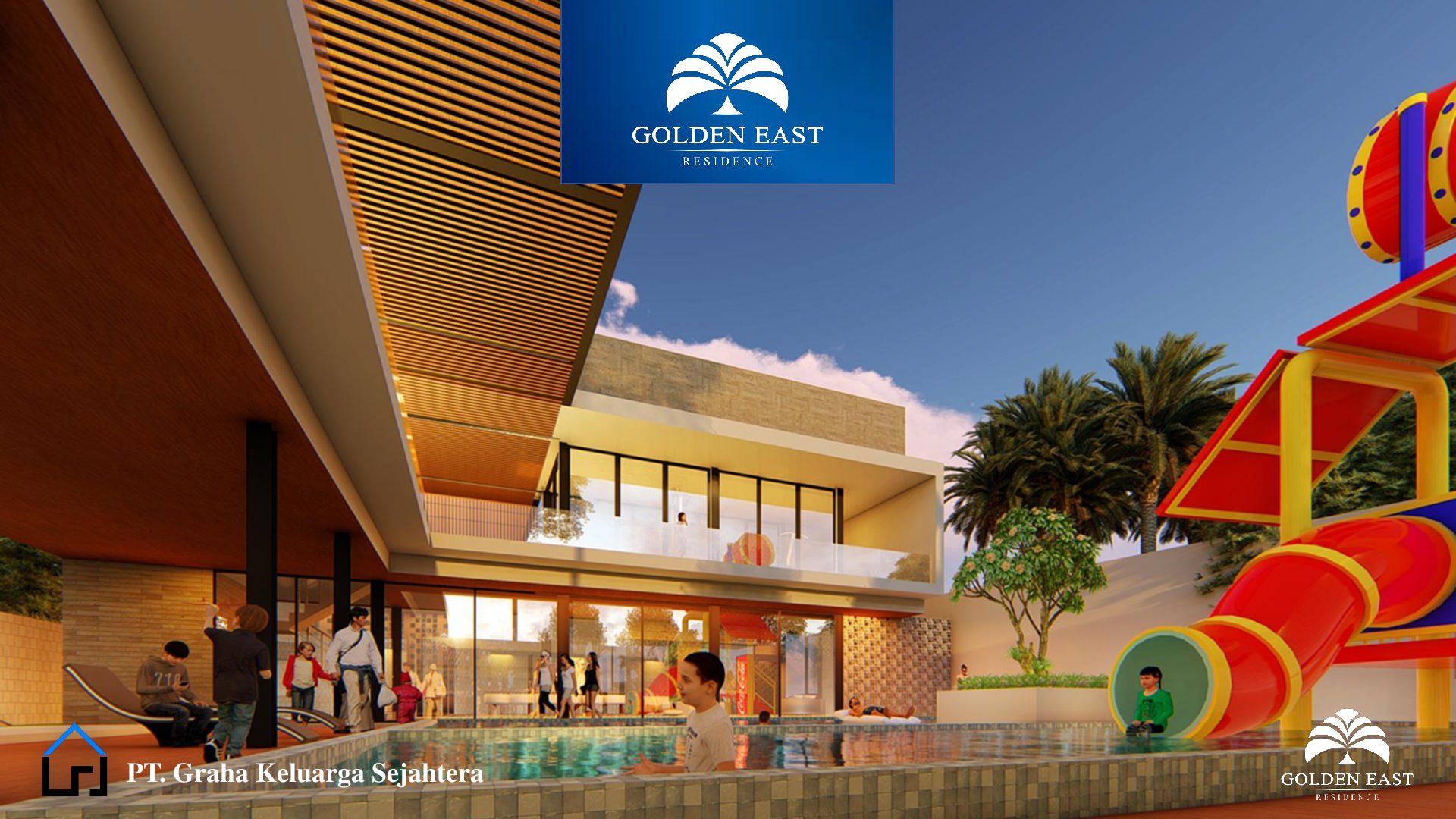 Golden East Residence Menganti Gresik CLUB HOUSE POOL