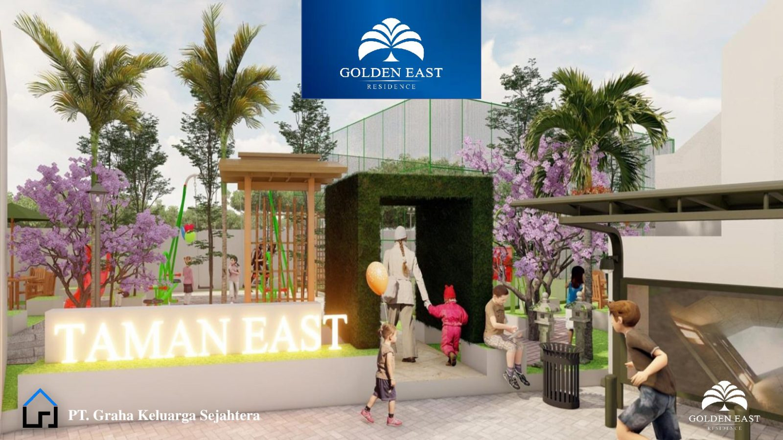 Golden East Residence Menganti Gresik TAMAN EAST
