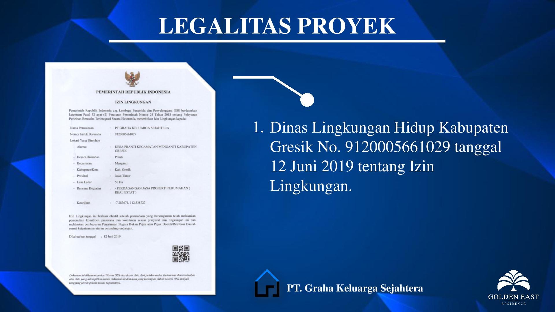 Golden East Residence Menganti Legalitas Proyek