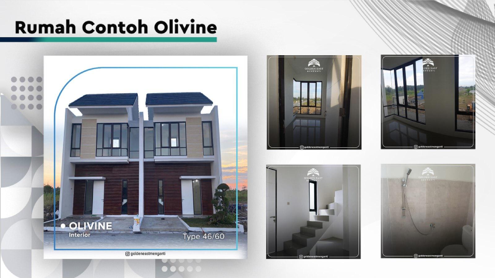 Golden East Menganti Rumah Contoh Olivine