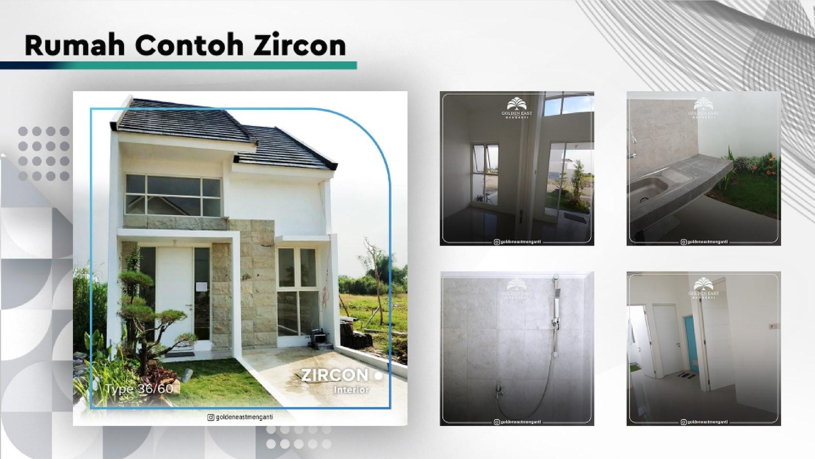 Golden East Menganti Rumah Contoh Zircon